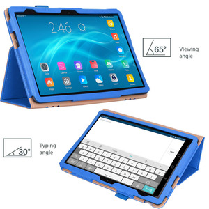 Image 2 - For Huawei MediaPad T5 10 Case PU Leather Hand Holder Cover For Huawei T5 10 AGS2 L09/L03/W09/W19 10.1 Tablet Case +Films