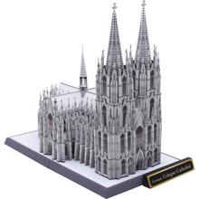 DIY Big Size Germany Cologne Cathedral Craft Paper Model 3D Architectural Building DIY Education Toys Handmade