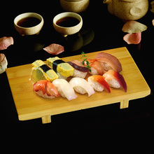 ФОТО Japan Style Bamboo Sushi Plate Tableware Food Container Board Japanese Cuisine Food  Cuisine Japonaise