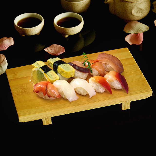 buy japan style bamboo sushi plate tableware food container board japanese. Black Bedroom Furniture Sets. Home Design Ideas