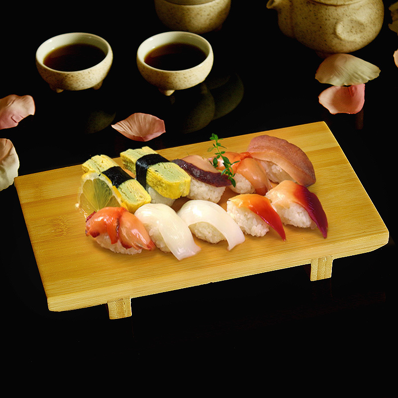 Japan Style Bamboo Sushi Plate Tableware Food Container Board Japanese Cuisine Food Cuisine Japonaise High Quality