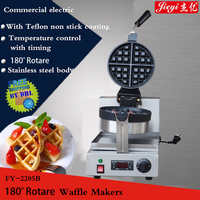 1pc  Commercial stainless steel shaped waffle makers110V/220V With Teflon Non-Stick Cooking Surface 180 degree rotate