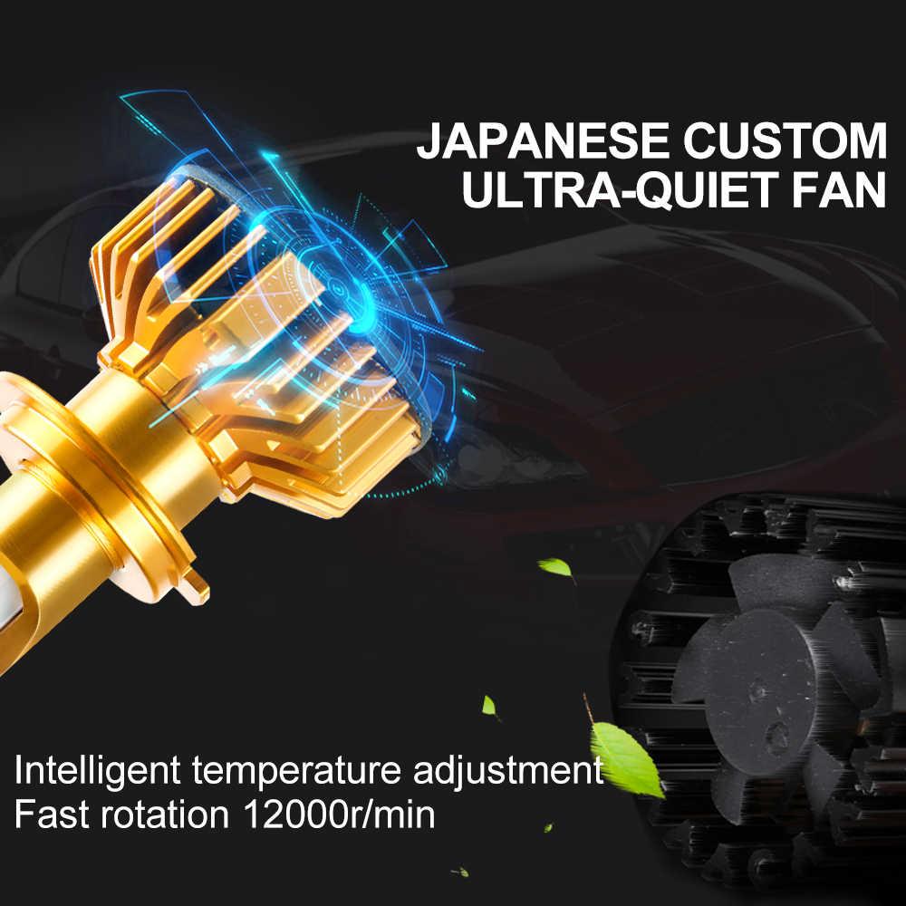 Foxcnsun 2PCS H7 LED H4 Car headlight H1 H3 H11 H7 9005 9006 72W 10000lm Auto Hi Lo Beam H8 H9 HB4 HB3 6500K CANBUS DOB Chip 12V