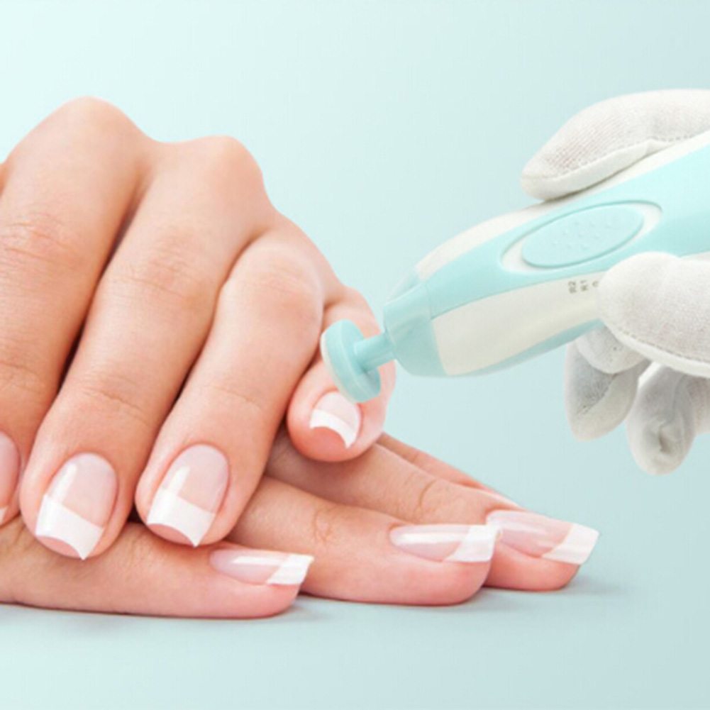 Elektrische Finger Schleifeinrichtung Abs Maniküre Nagelkunstwerkzeuge Ausrüstung Schleifen Rüstung Hand Füße Nagel Stift Baby Fußpflege Modernes Design Babypflege Nagelpflege