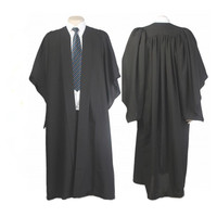 Classic Black Bachelor Graduation Gown University Academic Dress