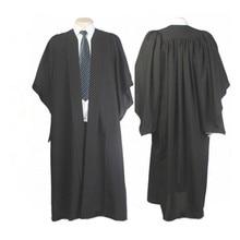 Robe de licence, robe classique, couleur noire, pour diplôme universitaire