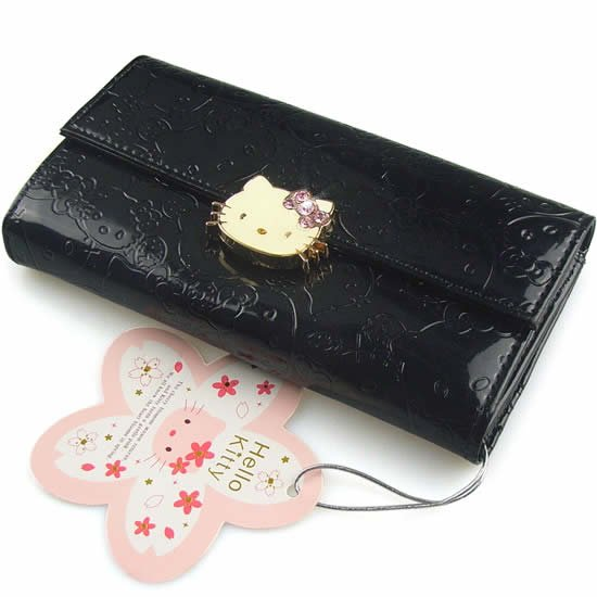 2017 Hot Ing Hello Kitty Clutch Wallet Black Hasp Wallets Women S Fashionable Long Pu Leather Purse Woman Money Clips In From Luggage