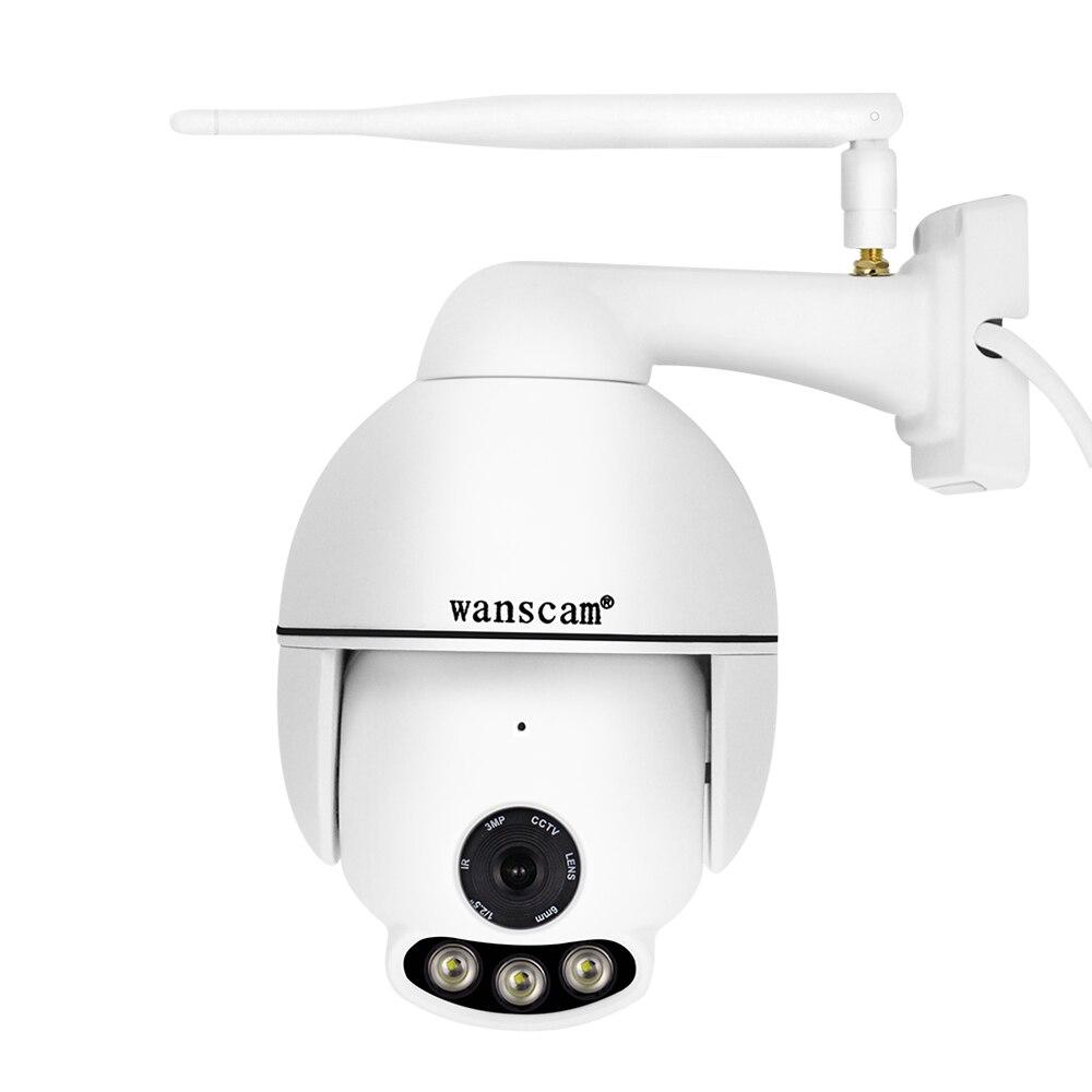 Wanscam 1080P PTZ Câmera IP Sem Fio Wi-fi Ao Ar Livre Câmera À Prova D' Água Sino 4X Rede Zoom Vigilância CCTV Visão Nocturna do IR 50M