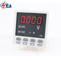 DV81 panel size DC 48*48mm single phase cheap voltage meter for mechanical mod high precision voltmeter