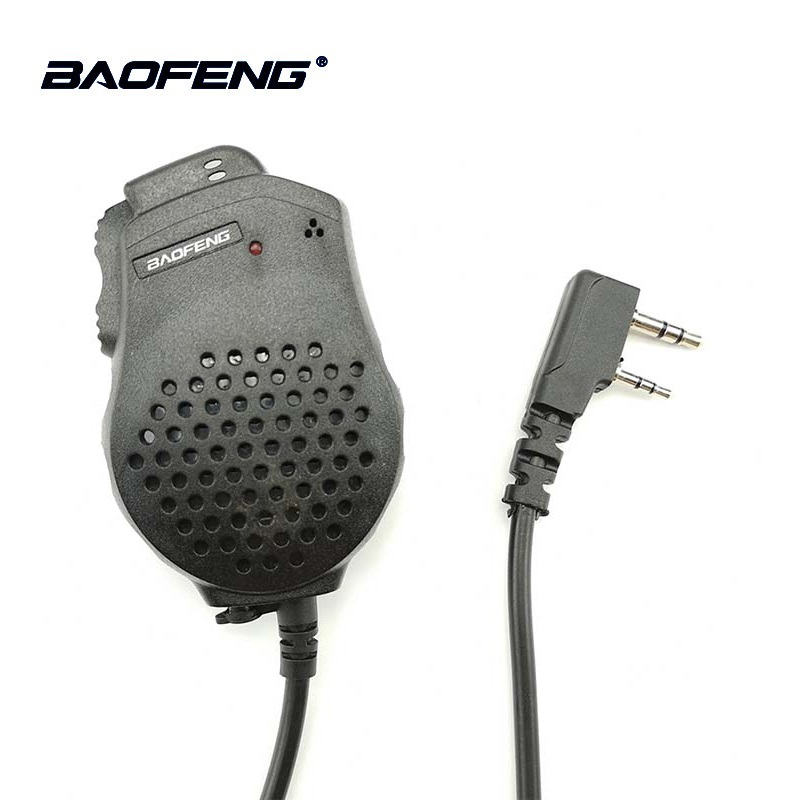 2 stücke Baofeng UV-82 Dual PTT Mic Lautsprecher Mikrofon Für Baofeng Two Way Radio UV 82 UV-8D UV-89 UV-82HP Walkie talkie Zubehör