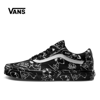 Vans Old Skool Skateboarding Shoes Unisex Black Sneakers PEANUTS Cartoon Graffiti Athletic Shoes Men S Women