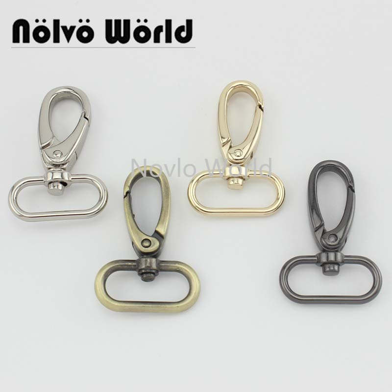 6 pieces test, 47*25mm small quantity  metal strap buckle for bags, dog collar lobster clasp swivel snap hook accessories()