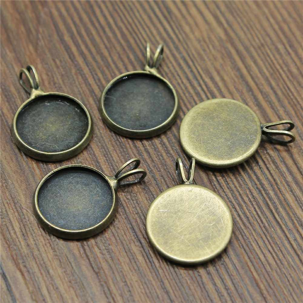 6 Colors Fit 10mm 12mm 14mm 16mm 18mm 20mm Glass Cabochon V Style Tray Base Setting Charms Pendant