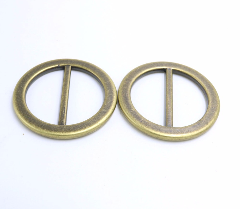 10pcs  Round Ring Buckles Plastic Bronze Big Luggage Clothing Belt Buckle Inside 40mm