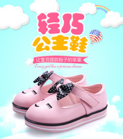 WENDYWU Kids Shoes For Girl Autumn New Arrival Smiling cute girl single shoes princess Korean cartoon baby shoes