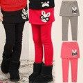 2015 Spring Cute Little Girls Pantskirt, Baby Kids Cotton Leggings, 4 Colors