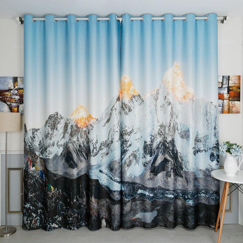 New Korean 3D Blackout Curtains Simple Fresh Purple