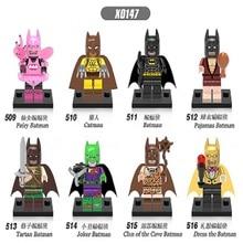 Super Heroes Catman Tartan Pajamas Fairy Joker Clan of The Cave Dress The Batman Minifigures Building Blocks Learning Toys X0147