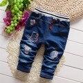 Primavera frete grátis e Outono crianças denim calças, calças do bebê calças de brim menino, calças miúdo # Z1584