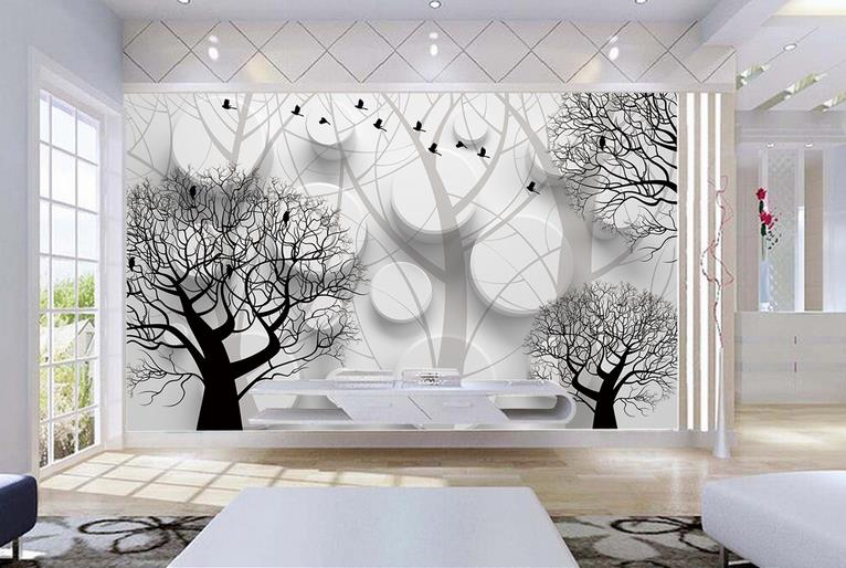 Custom 3 d wallpapers European 3D Stereo Cylindrical trees Large Mural Living Room Bedroom TV Background Wall Painting Wallpaper custom wallpapers large mural 3d hd crystal jewelry diamond floral 3d wallpaper living room bedroom tv background wallpaper