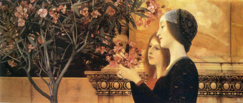 Handmade oil painting reproduction Two Girls With An Oleander by Gustav Klimt