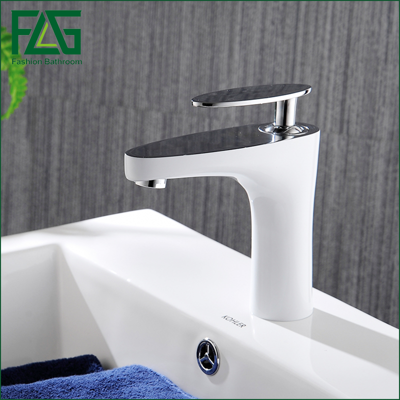 Baked White Paint Basin Faucet White Faucet Bathroom Vessel Sink Lavatory Basin Faucet/White Color Mixer Tap white