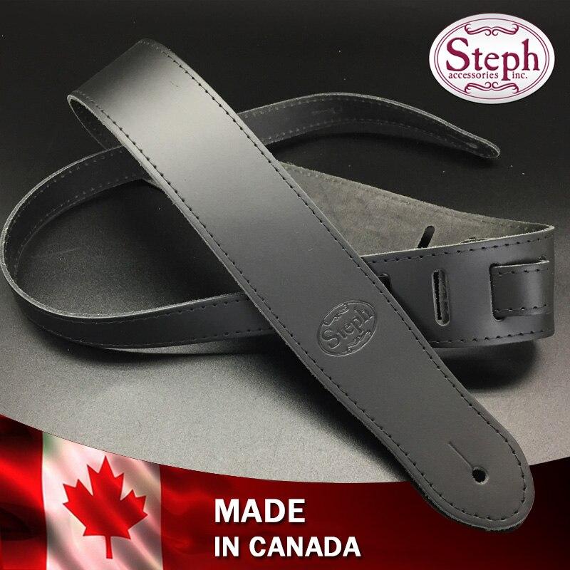 Steph Handmade CHO Genuine Leather Guitar Strap Chopper Style, Made in CanadaSteph Handmade CHO Genuine Leather Guitar Strap Chopper Style, Made in Canada