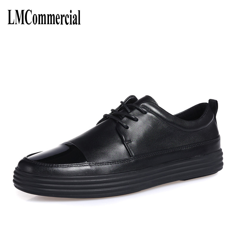 Men Casual Shoes breathable all-match male British leather breathable sneaker fashion shoes the spring and summer men casual shoes men leather lace shoes soled breathable sneaker lightweight british black shoes men