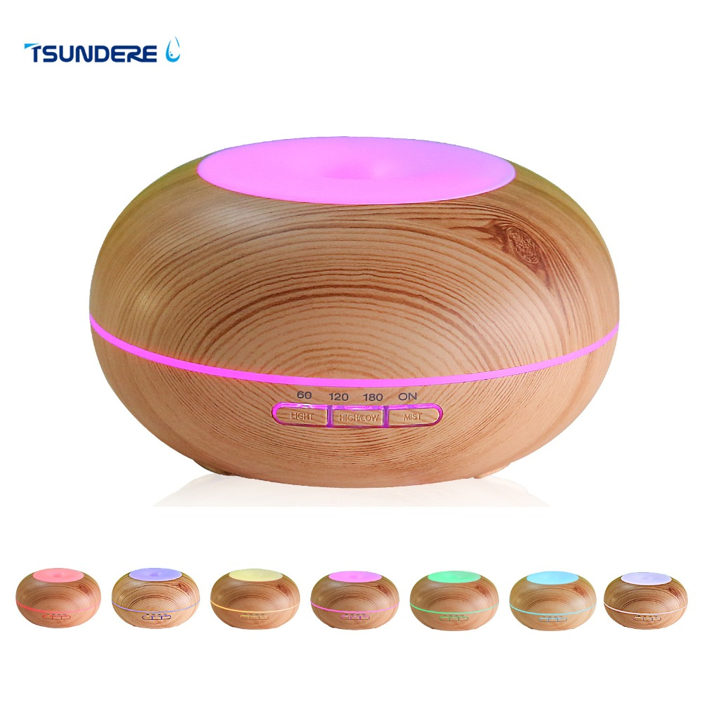 TSUNDERE L Air Humidifier Essential Oil Diffuser LED Aroma Diffuser Lamp Aromatherapy Large Capacity Wood Grain Ultrasonic Aroma hot sale humidifier aromatherapy essential oil 100 240v 100ml water capacity 20 30 square meters ultrasonic 12w 13 13 9 5cm