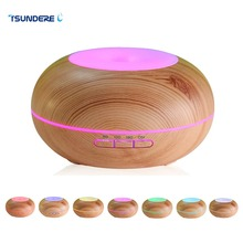TSUNDERE L Air Humidifier Essential Oil Diffuser LED Aroma Diffuser Lamp Aromatherapy Large Capacity Wood Grain Ultrasonic Aroma