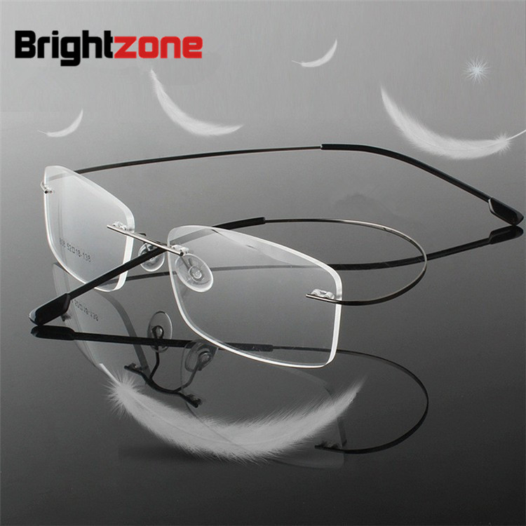 ALI shop ...  ... 32693196118 ... 1 ... Rimless Titanium Ultra light  reading glasses +1 +1.5 +2 +2.5 +3 +3.5 +4Rimless ochki dlya chteniya sin montura gafas de lectura ...