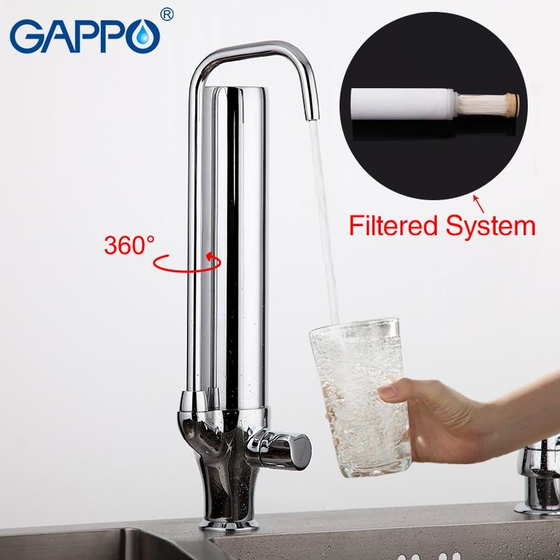 GAPPO Water Mixer Kitchen Sink Faucet Kitchen Mixer Tap Torneira Purified Water Faucet Drinking Tap Mixer Water Filter Tap G4352