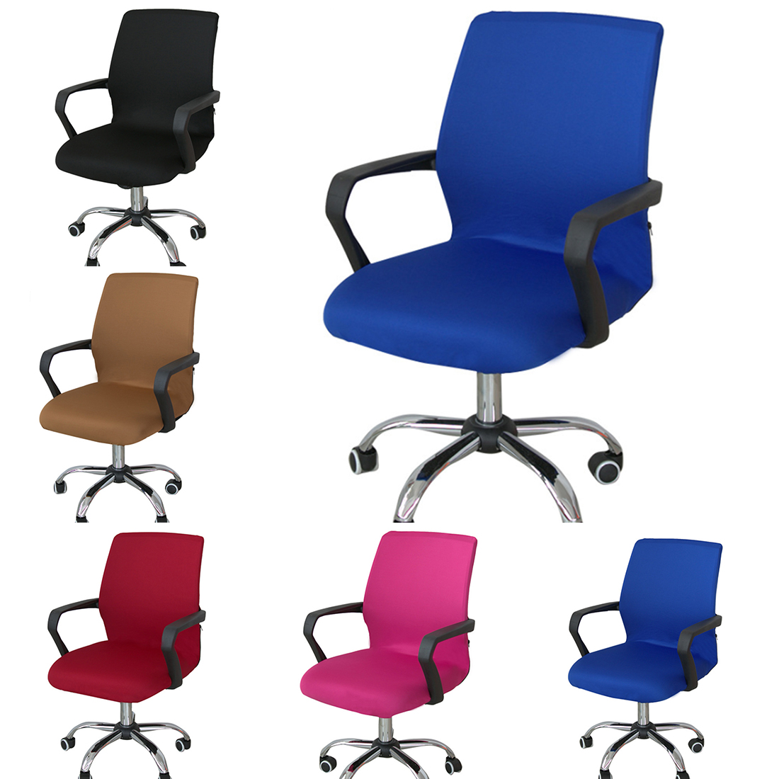 revolving chair manufacturer in nagpur beige wingback aliexpress buy 3 sizes polyester office cover