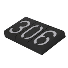 New Arrival Solar Power Number LED Light Sign House Hotel Door Address Plaque Mailbox Digit Plate Solar Wall Door Lamp