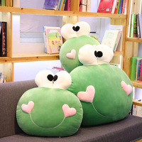 Cute Big Eye Frog Pillow Frog Plush Toy Sleeping Pillow Male Lazy Pillow Creative Sofa Cushion Pillow Decoration Children Gift