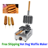 Free Shipping Hot Dog Waffle Machine Hotdog Waffle Maker Kitchen Appliance Gas Type Sausage Waffle Baker