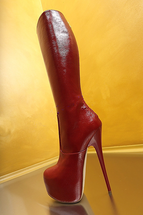Heels Knie Kappe T Schuhe Hohe Runde Frauen High Zip Dicken Rote Abesire Feste Oberschenkel Rot Dame Plattform Kleid Lange bühne Stiefel w0S8Wq