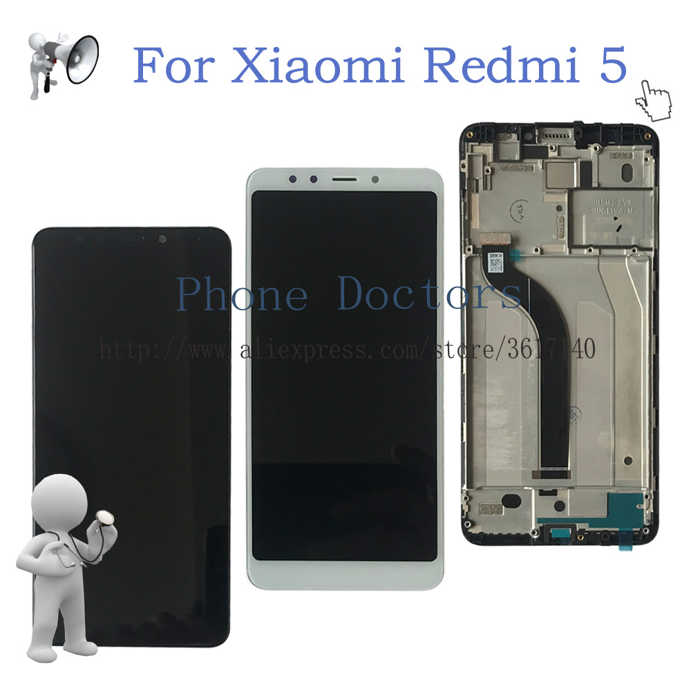 5.7 For Xiaomi Redmi 5 Full LCD DIsplay + Touch Screen Digitizer Assembly + Frame Cover For Xiaomi Redmi 5 ;Black / White ;New5.7 For Xiaomi Redmi 5 Full LCD DIsplay + Touch Screen Digitizer Assembly + Frame Cover For Xiaomi Redmi 5 ;Black / White ;New