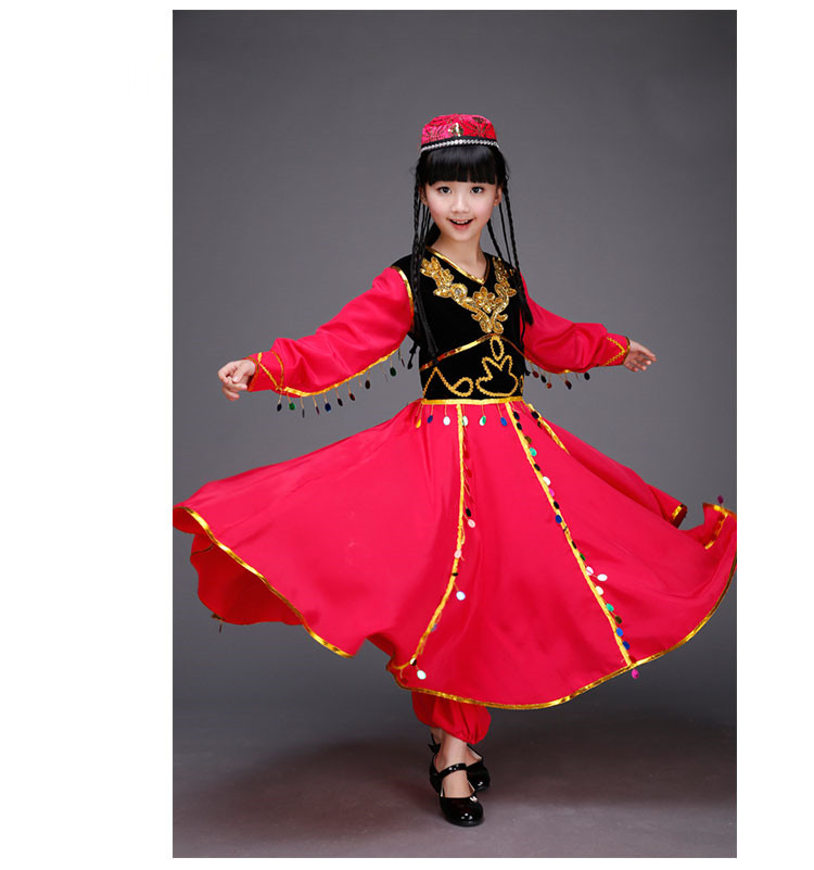 high Quality <font><b>Indian</b></font> <font><b>Sari</b></font> Girls Dress Orientale <font><b>Indian</b></font> Costumes For <font><b>Kids</b></font> Oriental Dance Costumes Belly Dancer Clothes Set 3PCS image