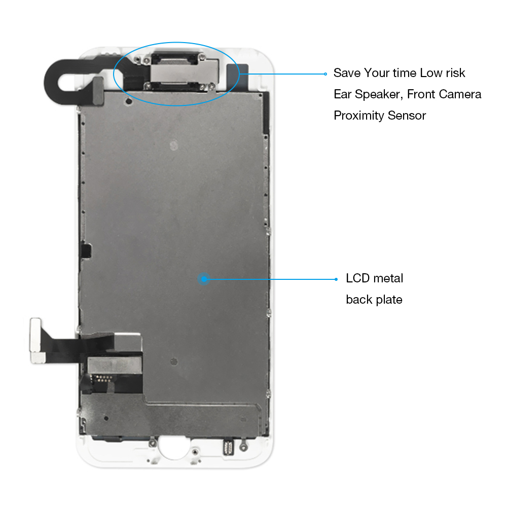 HTB1Tkk4XtfvK1RjSspoq6zfNpXa2 1Pcs OEM LCD For iPhone 7 7 Plus Display Full Set Digitizer Assembly 3D Touch Screen Replacement +Front Camera+Earpiece Speaker