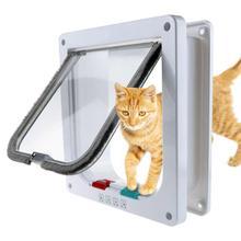 Выше Управление дверь для животных 4 способа с замком безопасности лоскут двери для кошек и собак настенное крепление двери домашнее животное кошка котенок люк для собаки двери