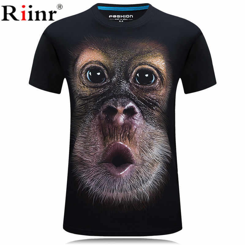Mens Fashion 3D Printed T Shirt Homme Novelty Design Animal Tops Brand clothes Casual Short Sleeve O-neck T-shirt Male Tees