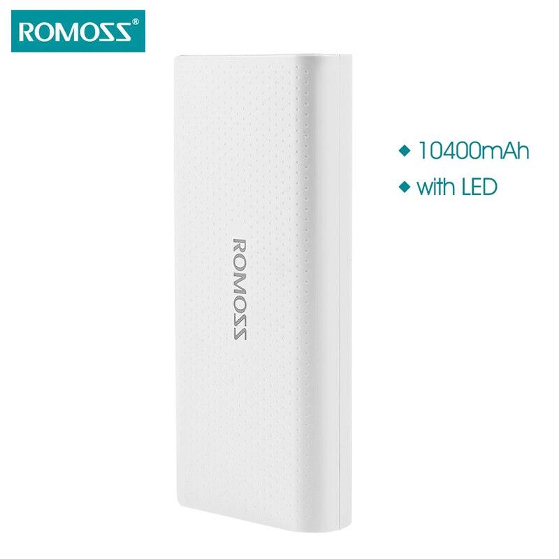 imágenes para Sentido ROMOSS 4 LED Colorido Polka Dot Style10400mAh Salida Doble Banco de la Energía de Batería Externa Para el iphone Samsung HTC Nokia Sony