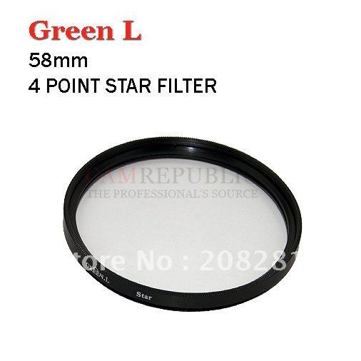 CAM REPUBLIC - High Quality 58mm Cross Star 4 Point 4PT Filter for 58 mm LENS Free Shipping