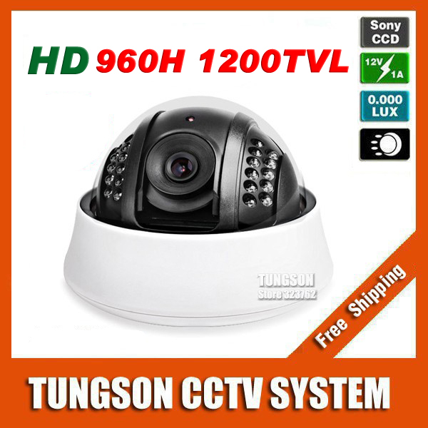 New Product HD Sony CCD 960H Effio 1200TVL Indoor Dome Surveillance Night Vision Infrared LED Home Security CCTV Camera
