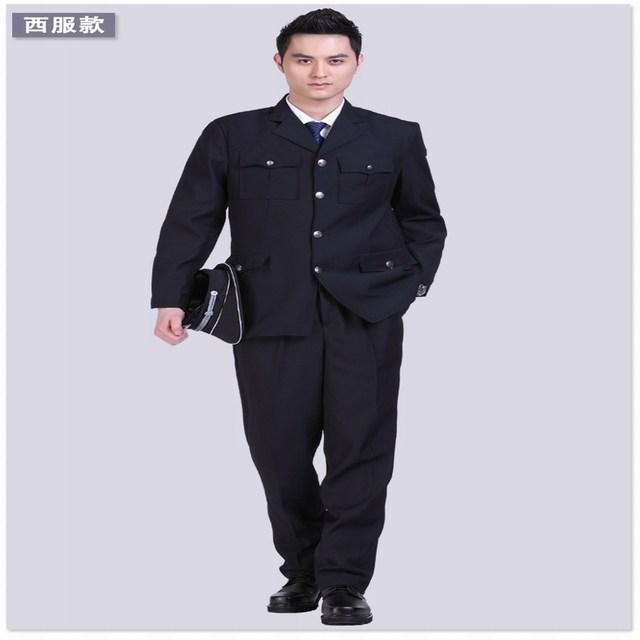 Hombres de seguridad traje conjunto uniforme traje de los hombres de primavera y otoño conjunto traje hombres de seguridad conjunto