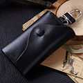 2016 New Arrival Luxury Genuine Leather Small Car Key Wallets Leather Fashion Women Housekeeper Holders Unisex Key Pocket