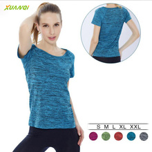 Workout Running Clothes For Women Quick Dry Yoga Shirt Sports Fitness Gym  Ladies Sportswear Short-sleeve T-shirt