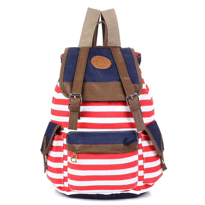 Aliexpress.com : Buy 2015 Stripe Women Printing Backpack Women ...