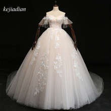kejiadian Wedding Dresses 2018 Royal Train Ball Gown